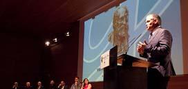 Jubany agradeciendo el premio Gaudí-Gresol