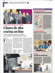 Gastronomia online, La Vanguardia