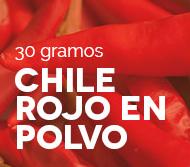 Chile rojo en polvo