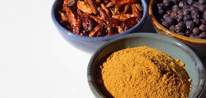 Especies cocina india hindú