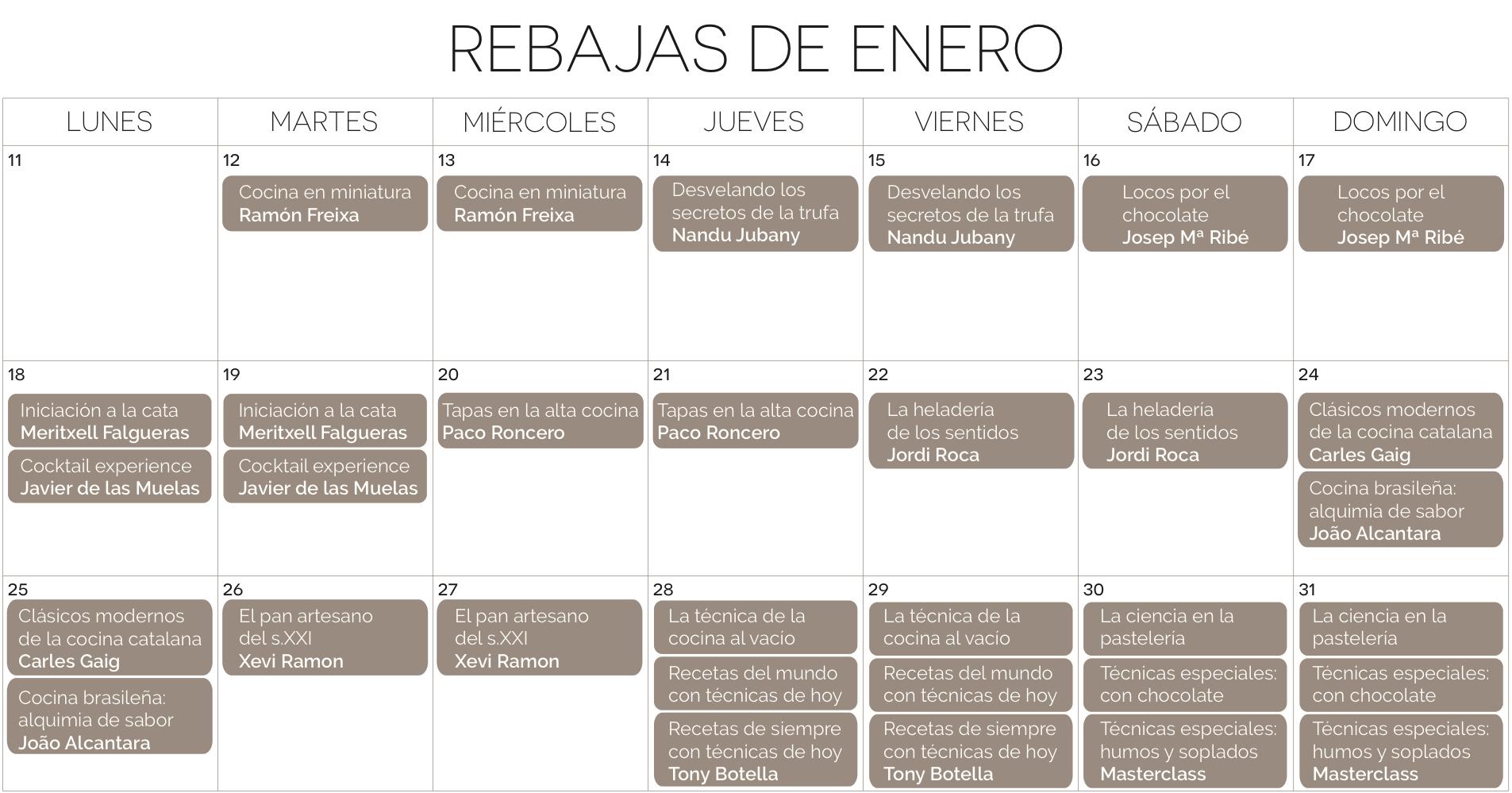 Calendario Rebajas Creative Signatures