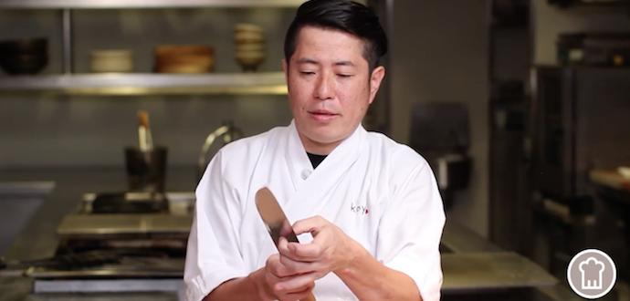 Afilar cuchillos - cuchillos sushi - japon - cocina japonesa recetas sashimi afilado