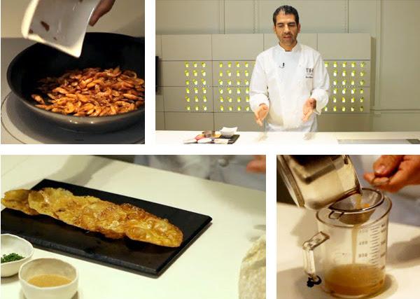 receta tortilla de camarones Paco Roncero